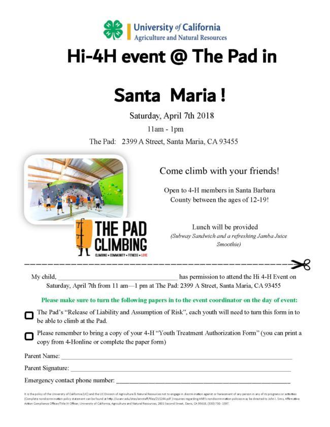 Hi 4-H event The Pad (jmmhansen@ucdavis.edu)
